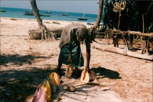 9-8beach man with shells